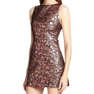 Alice + Olivia Dot Metallic Dress (Pink)
